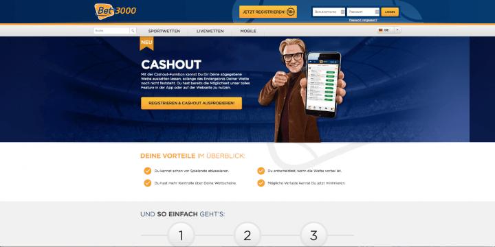 Bet3000 Cash Out Wetten